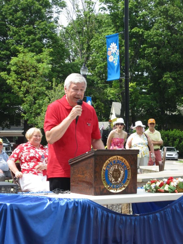 Selectman Dick Shea speaks at 2012 Memorial Ceremony