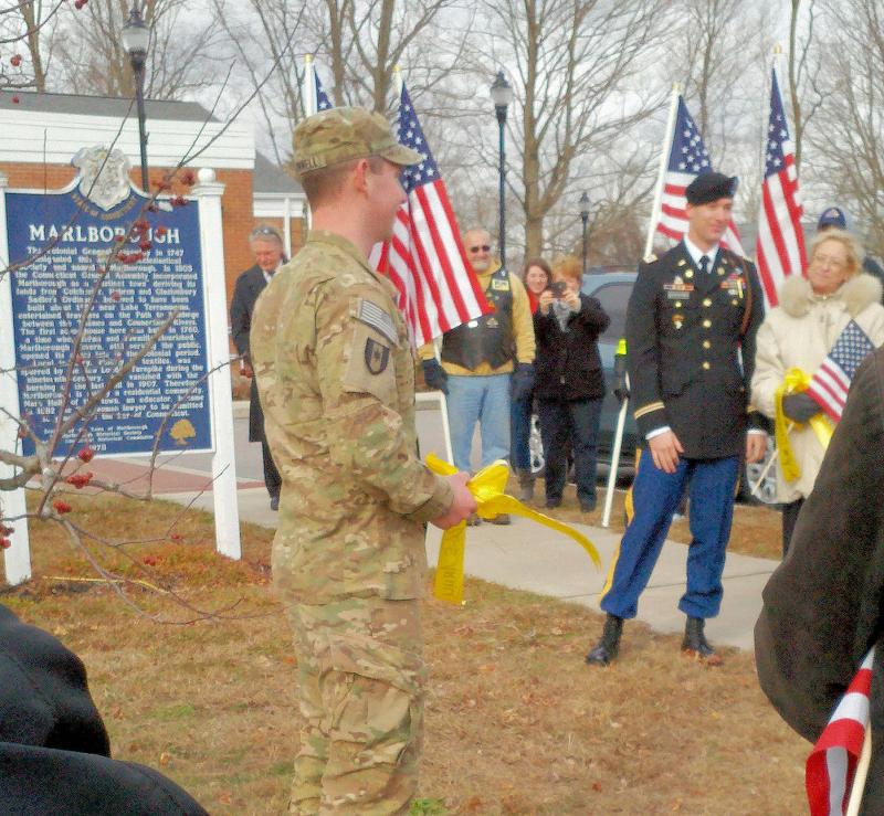 Captain Alan Schachtner and Spec Dan O'Connell  at 12/22/12 ceremony